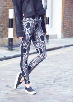 268ff33772d05 Bye bye jeans, hello leggings. Here's how to take your activewear to the  street