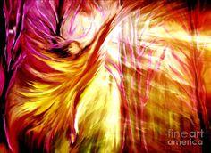 Prophetic Art Digital Art - Hallelujah by Pam Herrick at www.JustForYouPropheticArt.com Angel entering God's glory in praise.