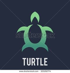 Abstract Turtle logo template. Letter U logo template - stock vector
