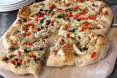 southwestern chicken pizza with chipolte cream cheese sauce