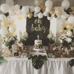 Jungle theme baby shower ⭐️ #jungle #babyshower