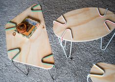 Snap clip-on designed by Maria Roca and Erika Biarnes supports create furniture from found objects