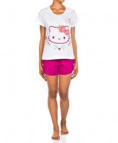 Hello Kitty Blanco/Frambuesa2 Pzas.
