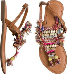 Gypsy inspired thong sandal…