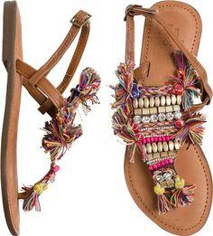 Gypsy inspired thong sandal…