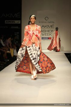 Designer Krishna Mehta show at Lakme Fashion Week