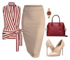 A fashion look from August 2016 by nezahat-kaya featuring Winser London, Massimo Matteo, Kate Spade and Karl Lagerfeld Classy Outfits, Chic Outfits, Fashion Outfits, Womens Fashion, Fashion Trends, Skirt Outfits, Fashionable Outfits, Fashion Tips, Work Fashion
