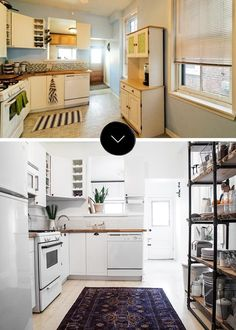 before and after hand-painted pattern #home_staging #inspiration #ohlalámagnoliá