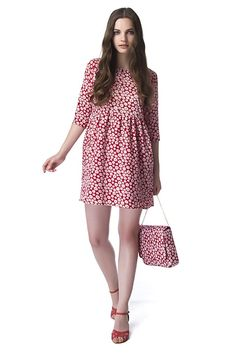 Flower Red Dress de Compañía Fantástica Spring/Primavera 2015