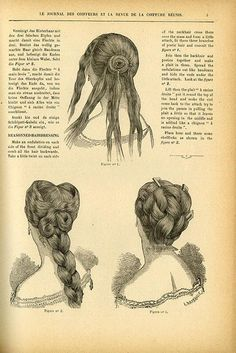 Vintage Hairstyles Updo Before Pintrest, articles like this from 1882 would teach the latest hairstyles. I think I'd need a few more steps! Me three! Latest Hairstyles, Braided Hairstyles, Cool Hairstyles, Hairstyle Ideas, Updos Hairstyle, Fantasy Hairstyles, Roman Hairstyles, Wedding Hairstyles, Anime Hairstyles