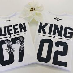 King Queen flower shirts, King and Queen shirts, Custom Queen King tees
