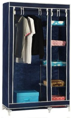 b288d770b14 Novatic Carbon Steel Collapsible Wardrobe(Finish Color - Navy Blue) Collapsible  Wardrobe