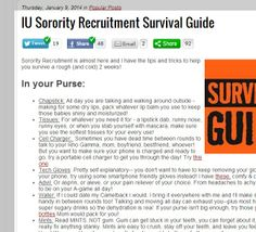 Tips and tricks to help you survive IU Sorority Recruitment