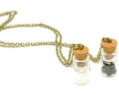 Best Friends Necklaces- Salt and Pepper