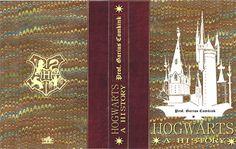 Harry Potter School Book Cover - Hogwarts a History Harry Potter Halloween, Harry Potter Diy, Potion Harry Potter, Natal Do Harry Potter, Magie Harry Potter, Harry Potter Thema, Harry Potter Book Covers, Harry Potter Classroom, Theme Harry Potter
