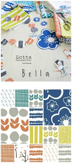 Bella by Lotta Jansdotter - She is my favorite designer.  Her material designs are just so neat and I love that she does them by hand!