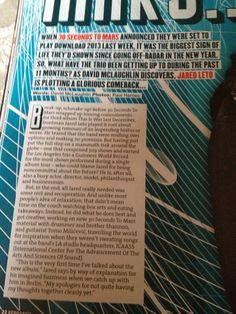 Kerrang! Magazine 14/11/12 Signs Of Life, Thirty Seconds, Mars, Magazines, The Past, Journals, March