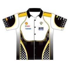 e8a7e35d9b5 Design example of custom Pro Pit Crew shirt with airmesh side panels for  thermal control