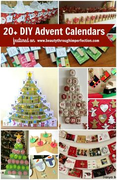 20+ ideas to make your own Advent Calendar this Christmas season! A great craft and holiday traditionf or kids of all ages
