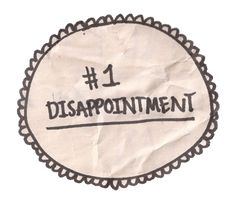 badge of disappointment