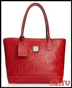 Dooney 038 Bourke Handbag Logo Embossed