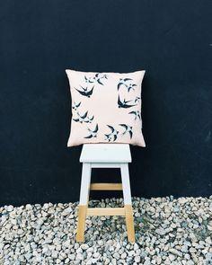"""Alma Tatuada Cushion & """"Peúga"""" Stool by Pura Cal Stool, Chair, Portuguese, Cushions, Modern, Furniture, Home Decor, Traditional Homes, Throw Pillows"""