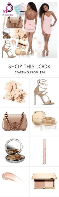 """Pink Chateau Online-Flutter Dress"" by gaby-mil ❤ liked on Polyvore featuring Bobbi Brown Cosmetics, Stuart Weitzman, Emilio Pucci, Dolce&Gabbana, By Terry, Paul & Joe Beaute, Wander Beauty, Clarins, boutique and pinkchateau"