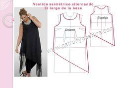 Patrón y costura : blusón asimétrico diy. Tema 191