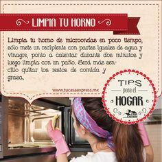Limpia tu horno de microondas en poco tiempo con estos #TipsExpress