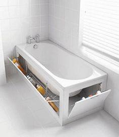 creative storage solutions   ... bathroom space savers, bathtub with storage shelves, storage solutions