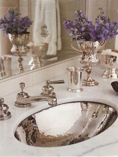 Glam sink by Interior Designer Jane Schwab, Circa Interiors