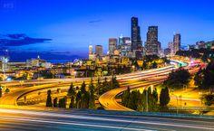 Seattle at Night! by Nhut Pham on 500px