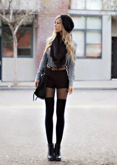 Thigh High Socks Outfit Ideas tips on how to style thigh high socks in 2019 high Thigh High Socks Outfit. Here is Thigh High Socks Outfit Ideas for you. Thigh High Socks Outfit how to sport thigh high socks glam radar. Thigh High S. Thigh High Socks Outfit, Knee High Socks Outfit, High Socks Outfits, Short Outfits, Trendy Outfits, Winter Outfits, Fashion Outfits, Winter Dresses, Emo Fashion
