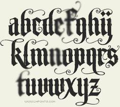 Letterhead Fonts / LHF Unlovable / Old English fonts