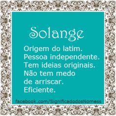 Significado do nome Solange | Significado dos Nomes
