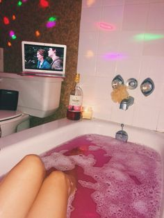 Watching Fault In Our Stars in the bathtub
