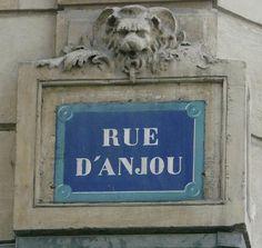 La rue d'Anjou  (Paris 8ème).