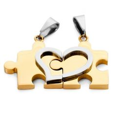 Jewelry His & Hers Couples Gift Heart Stainless Steel Pendant Necklace Love Valentine,with 18 inch and 20 inch Chain  SELLS FOR $36  BUT IF YOU BUY IT FROM HERE >>> http://amzn.to/123Zwaq <<< IT'S ONLY $8.99