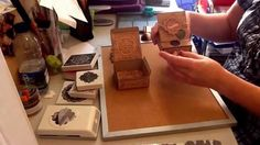 Wedding mini easel card with drawer (tutorial by Papercraft Button)