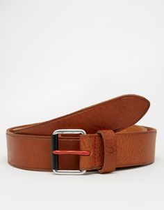 """Belt by Fred Perry Matte leather Pin buckle fastening Single keeper Wipe with a damp cloth 100% Leather Belt width: 3cm/1"""""""