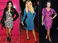 Leopard print dresses on the celebrities