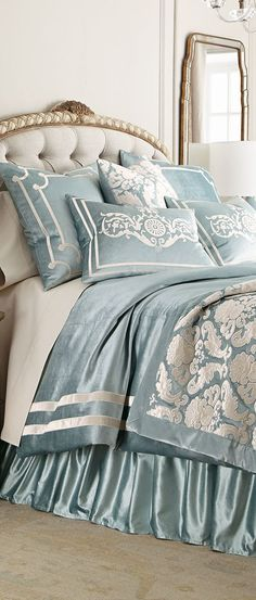 Design Nashville is an authorized dealer of this high end bedding. Message us for quotes.