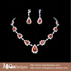 Cheap gold wedding jewelry sets, Buy Quality jewelry bridal set directly from China set baby Suppliers: Migodesigns Clear Crystal Water Drop Shaped Red Jewelry Sets For Women:A elegantCrystal made with Austria Elemen