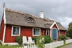 A traditional house in Kivik, Sweden. I love the thatched roof!