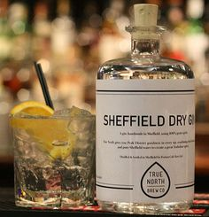 Our very own True North Sheffield dry gin! like a proud mother hen...