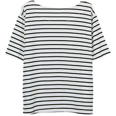 Women Short Sleeve O Neck Stripe Casual Cotton T-shirt (€8,70) ❤ liked on Polyvore featuring tops, t-shirts, print t shirts, stripe t shirt, pattern t shirt, striped t shirt and short sleeve t shirts