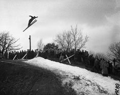 Fox River ski jump winner for 1956 which was obviously a very grim snow year.