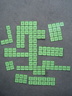 We got to know numbers 1-120 by putting together number puzzles. This was one of the many great ideas I've gotten from mathwire.com  120 Ch...