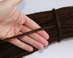 50 thin dark Brown Human Hair Dreadlock Extensions