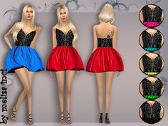 The Sims Resource: Rich Lace Cocktail Dress by Melisa Inci • Sims 4 Downloads